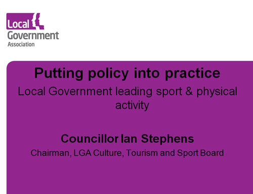 Ian Stephens Putting Policy into practice