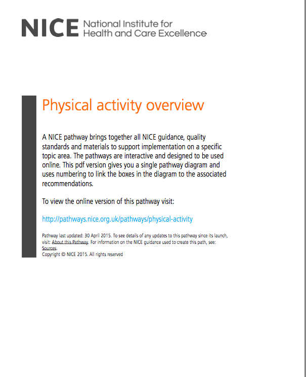 NICE Pathway Physical Activity